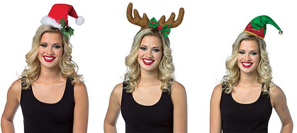 Rasta Imposta Adult Christmas Headband Hat Santa Reindeer
